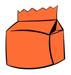 milk or juice carton package icon icon cartoon vector image vector image
