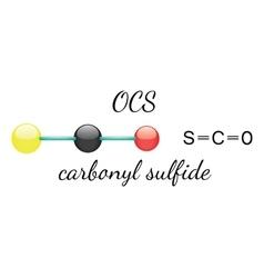OCS carbonyl sulfide molecule vector image