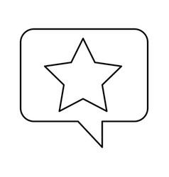 Speech bubble with star icon vector