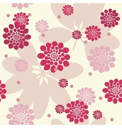 Abstract floral seamless background vector image vector image