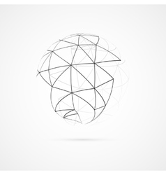 Globe with orbits vector image vector image
