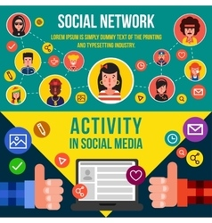 Social Networking Services Horizontal Banners vector image vector image