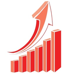 Arrow diagram chart vector image