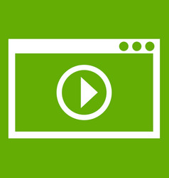 program for video playback icon green vector image vector image