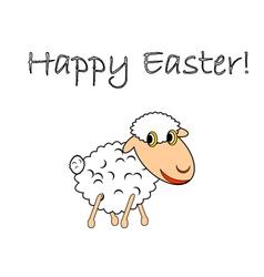 A funny cartoon Easter sheep vector image vector image