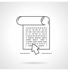 Flat line design web article icon vector image