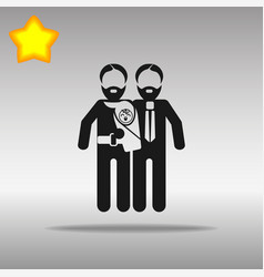 gay parents with child vector image vector image