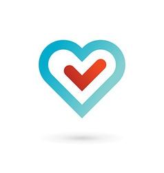 Heart symbol logo icon design template elements vector