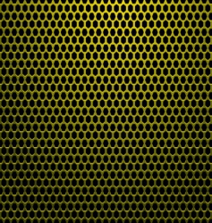 hexagon gold background vector image vector image