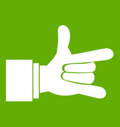 i love you hand sign icon green vector image vector image