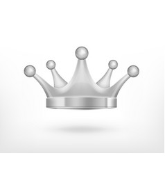 icon of silver crown vector image