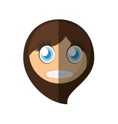 scared emoticon cartoon design vector image vector image