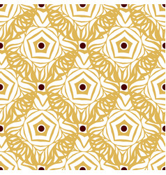 seamless pattern with gold ethnic ornament vector image vector image