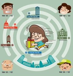 The girl are out gifts to anyone in the city vector image