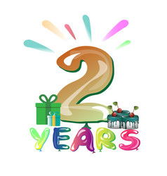 the second anniversary vector image