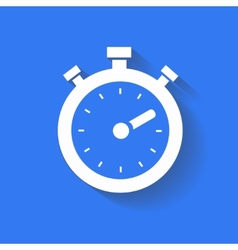 timer icon isolated white on the blue background vector image vector image