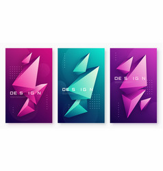 abstract geometric backgrounds with 3d vector image
