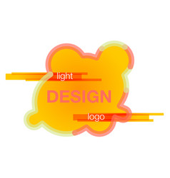 abstract logo design template creative wavy vector image