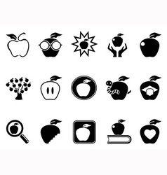 apple icons set vector image