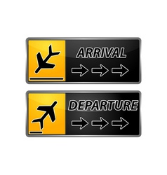 arrival and departure tags vector image