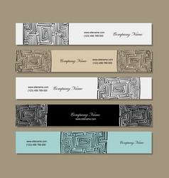banners design labyrinth square vector image