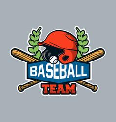 Baseball badge logo emblem template baseball team vector