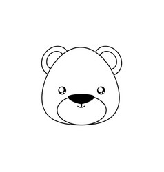 Bear drawing face vector