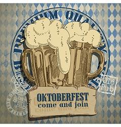 Beer background Oktoberfest vector
