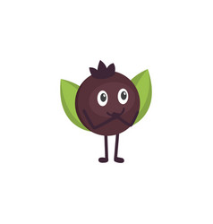 berry cute cartoon fruit with vector image