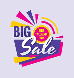 big sale - concept banner design discount vector image