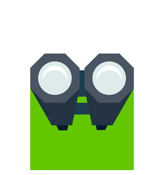 birdwatching icon binoculars icon isolated o white vector image