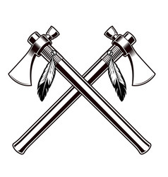 black and white of the tomahawks vector image