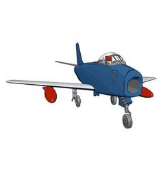 Blue air bomber on white background vector