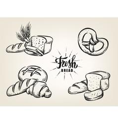 bread bakery on beige vector image