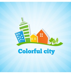 Bright picture of the city vector