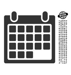Calendar appointment icon with work bonus vector