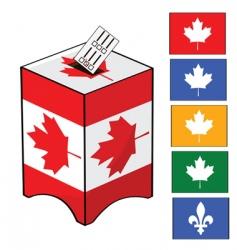 Canada election vector image