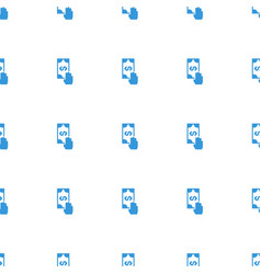 Cash payment icon pattern seamless white vector