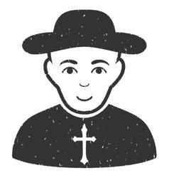 Christian Priest Grainy Texture Icon vector
