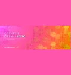 Color gradient background geometric halftone vector