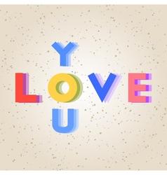 Colorful love alphabet vector