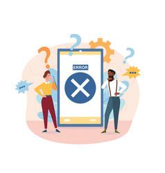concept operating system error warning vector image