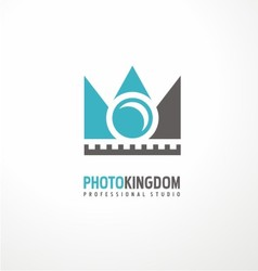Creative logodesign concept for photography studio vector