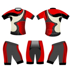 Cycling vest red style vector image