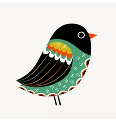 Decoration with colorful bird vector