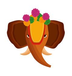 Elephant onam celebration design vector
