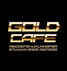 elite banner gold cafe with trendy font vector image