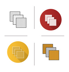 Emery paper icon vector