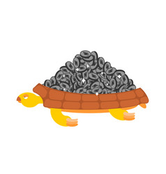 etherium is treasure turtle and cryptocurrency vector image
