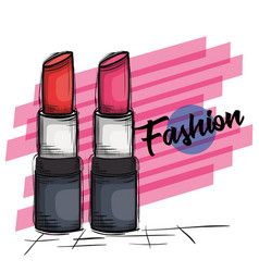 female fashion lipstick icon vector image